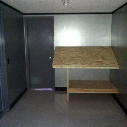 Brick Flats Mobile Storage Office Modifications